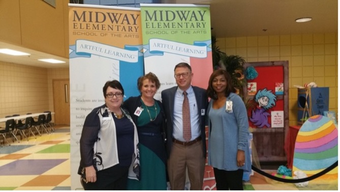 Michael D. Toth with leadership staff at Midway Elementary - Midway, FL